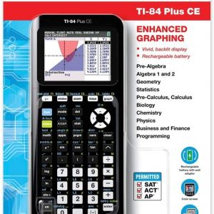 Texas Instruments TI-84 Plus CE Color Graphing Calculator, Black